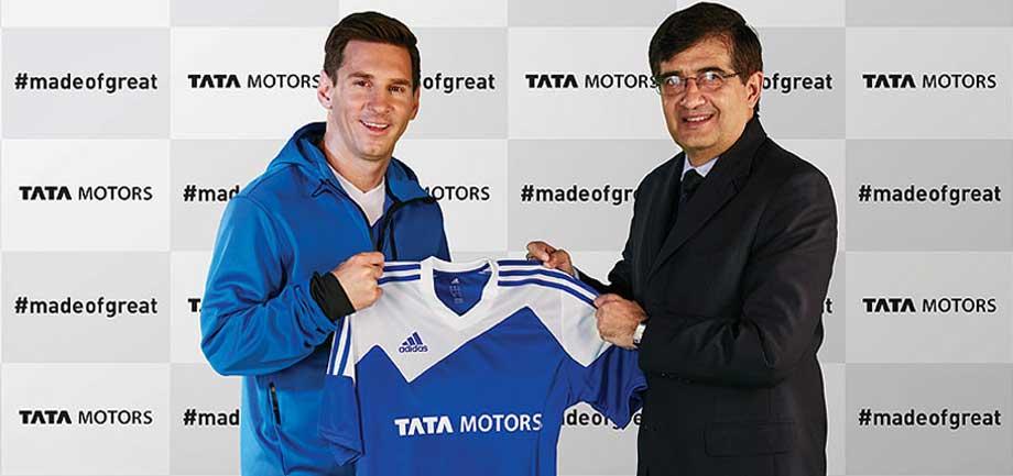 more photos b3de7 bf637 Tata Motors partners with the Football Legend – Lionel Messi ...