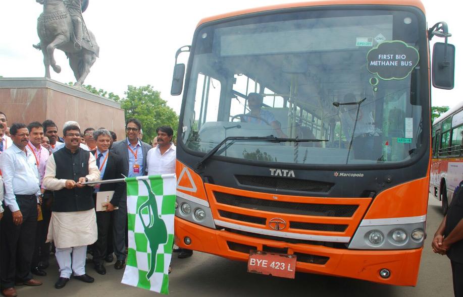 Tata Motors develops country's first Bio-Methane Bus Press kit