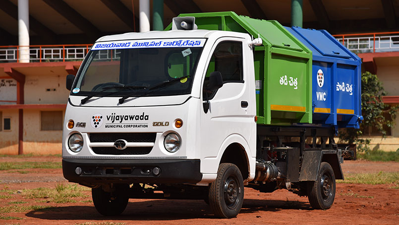 Tata Ace CNG municipality vehicle
